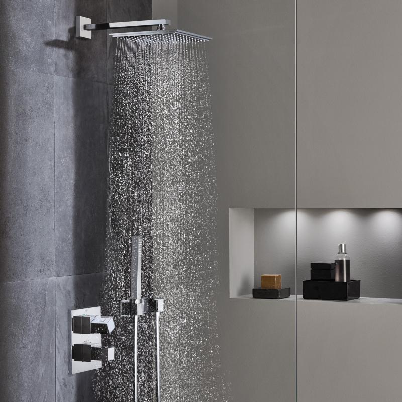 shower systems waterfall shower system rainshower dusche hhe finden und speichern sie ideen. Black Bedroom Furniture Sets. Home Design Ideas